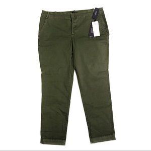 NYDJ Green Chino Pants  Size 14P Petite